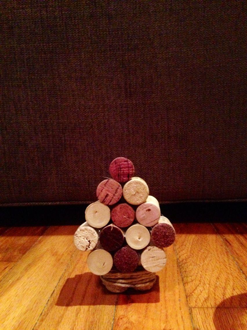 DIY Wine Cork Christmas Trees CJP
