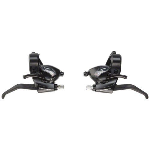 Bike Shift Levers - Shimano Tourney TX800 3x8Speed BrakeShift Lever Set Black ** You can find out more details at the link of the image.