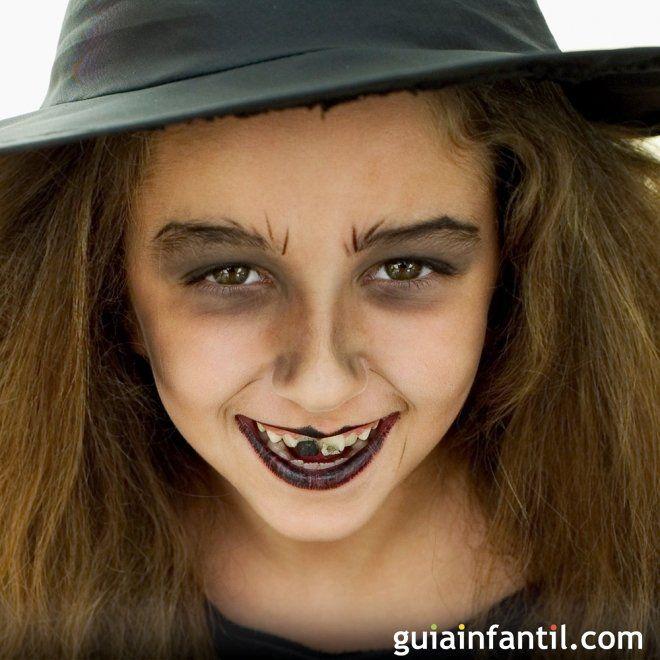 Maquillaje de Bruja para Halloween - Ideas de maquillaje para - maquillaje de halloween para nios