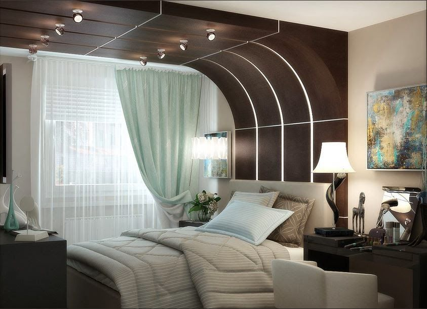 good interior design for home%0A Multilevel false ceiling design ideas in a small bedroom is not too good   as the