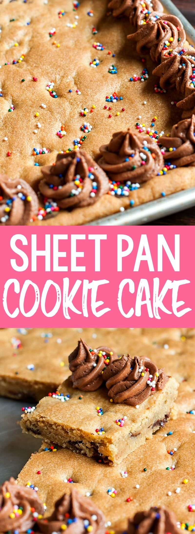 Sheet Pan Cookie Cake