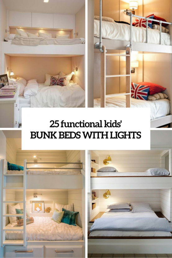 25 functional and stylish kids bunk beds with lights digsdigs rh pinterest co uk