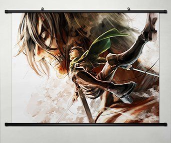Wall scroll poster fabric painting for anime attack on titan eren wall scroll poster fabric painting for anime attack on titan eren jaeger 030 check out this great image diy do it yourself today solutioingenieria Images