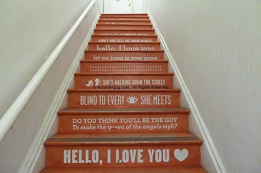 painted stairs grey walls - Google Search