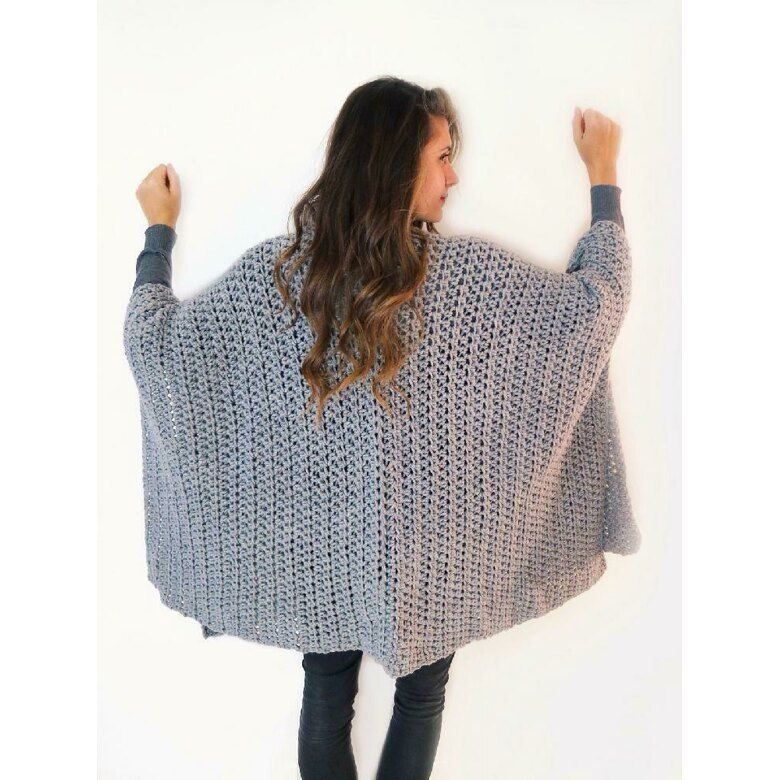 Blanket Ruana Poncho Crochet pattern by Two of Wands ...