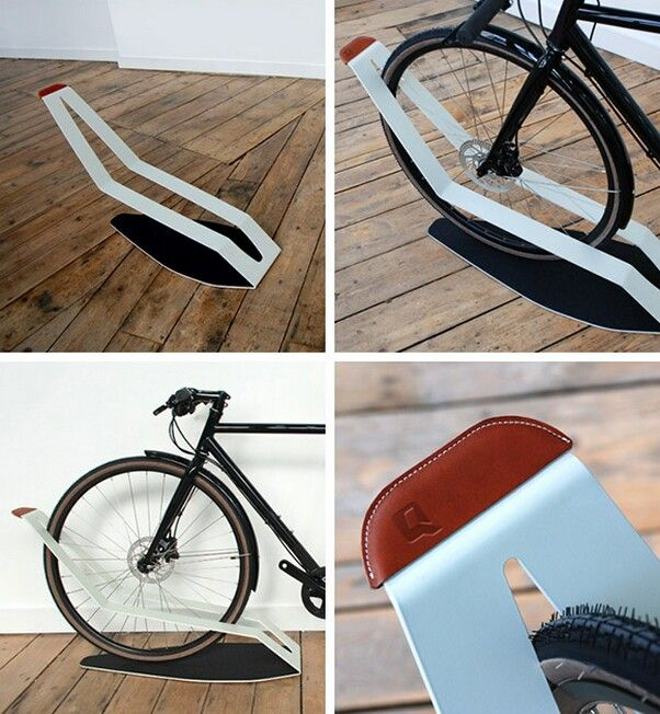 This Ultra Minimal Bicycle Rack Allows The Bike To Stand Safely