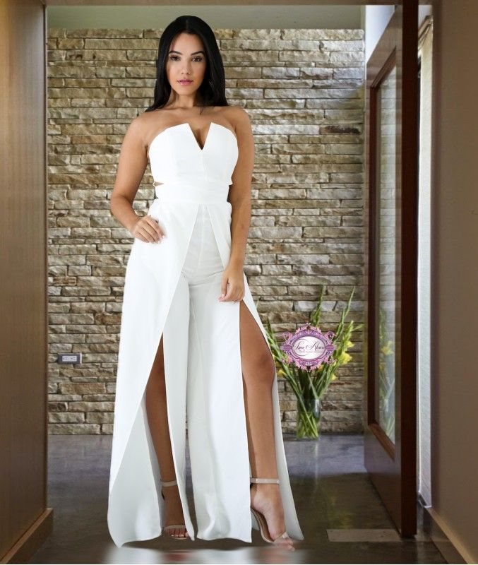 5f98ecba460 Split Leg Jumpsuit - Luxe Aloure. Find this Pin and more on Casual Jumpsuits  and Romper ...