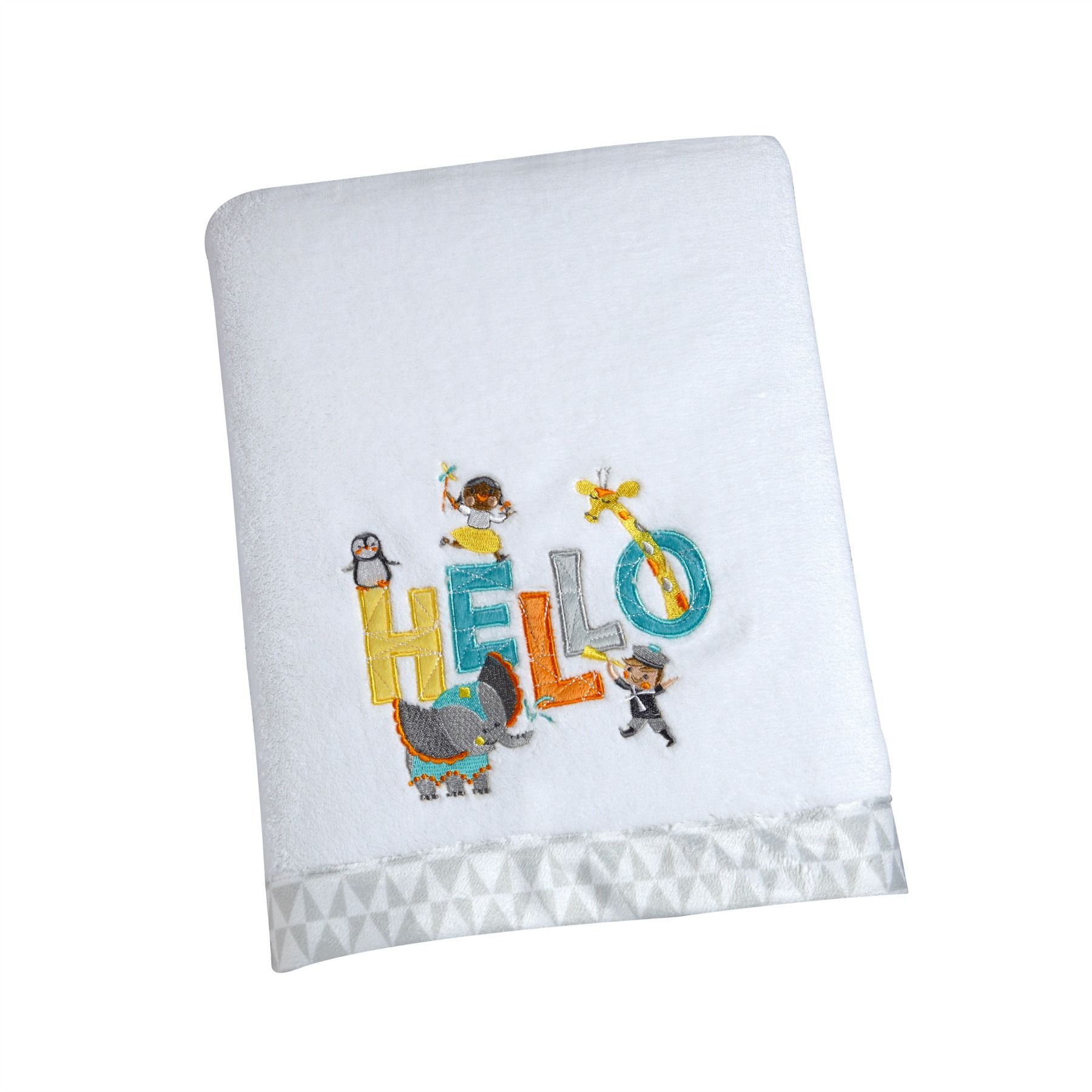 """Disney Baby IT'S A SMALL WORLD """"HELLO"""" Coral Blanket"""