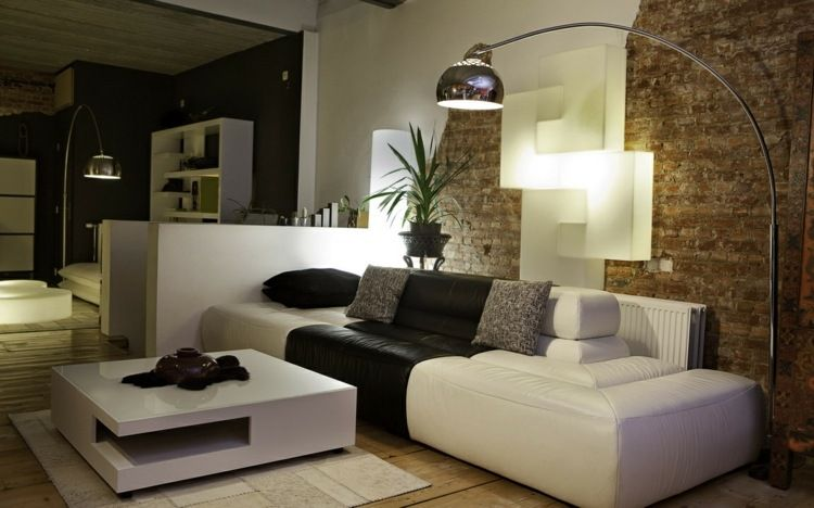 Déco De Petit Salon Avec Un Mur En Briques · Interior Design Living RoomModern  House ...