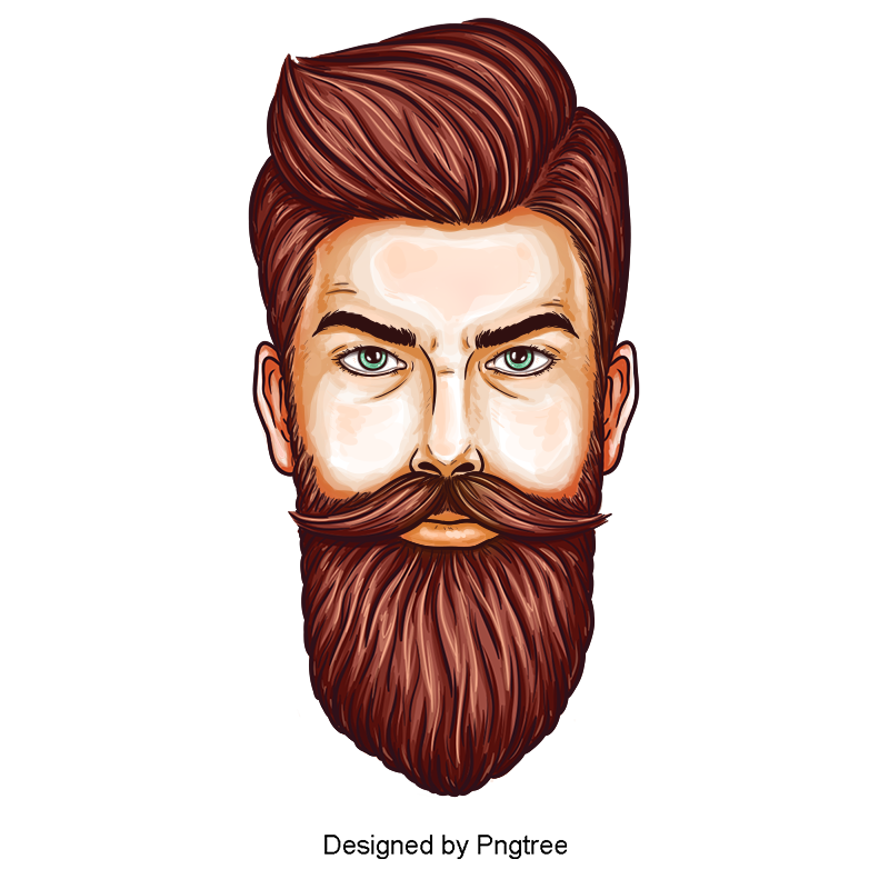 Fashion Male Character Sketch Vector Material Design Hand Painted Sketch Painting Png Transparent Image And Clipart For Free Download Beard Logo Design Beard Art Beard Logo