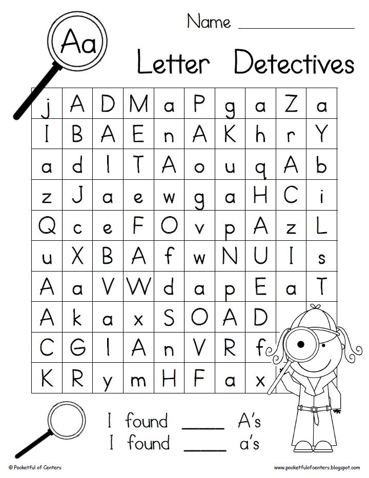 Letter Detectives {Printable AZ Letter Searches