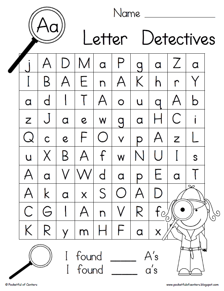 letter recognition pdf letter detectives printable a z letter searches 6521