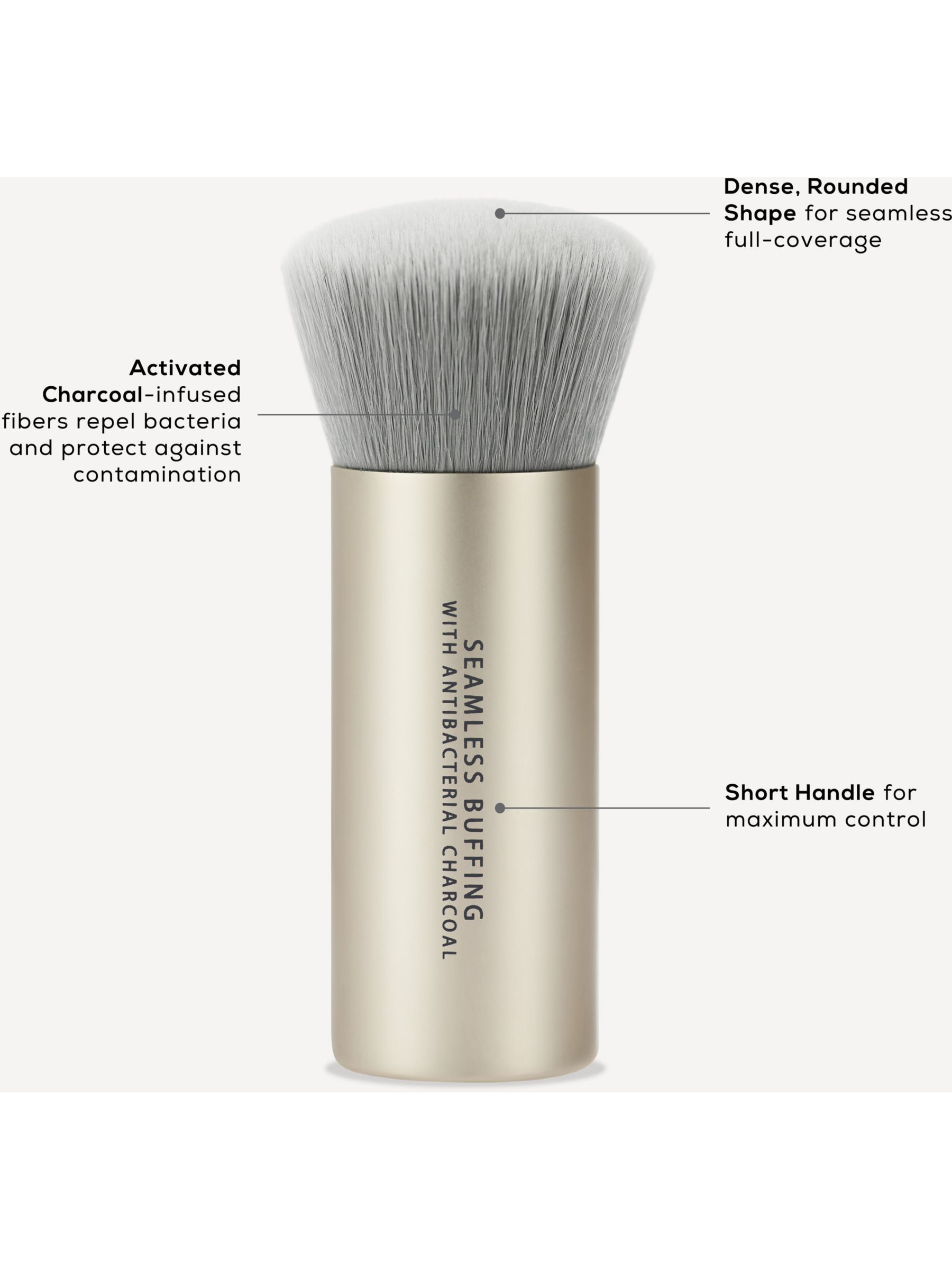 Bareminerals Seamless Buffing Brush With Antibacterial Charcoal In 2020 Bareminerals Loose Powder Foundation Loose Powder