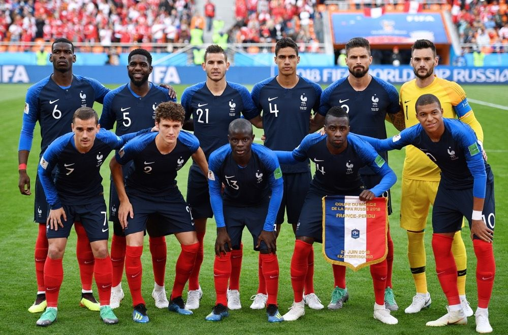 Two Of The World Cup S Heavyweights Meet In The First Game Of The Knockout Stages On Saturday As France And Argentina France Players Fifa World Cup Team Photos