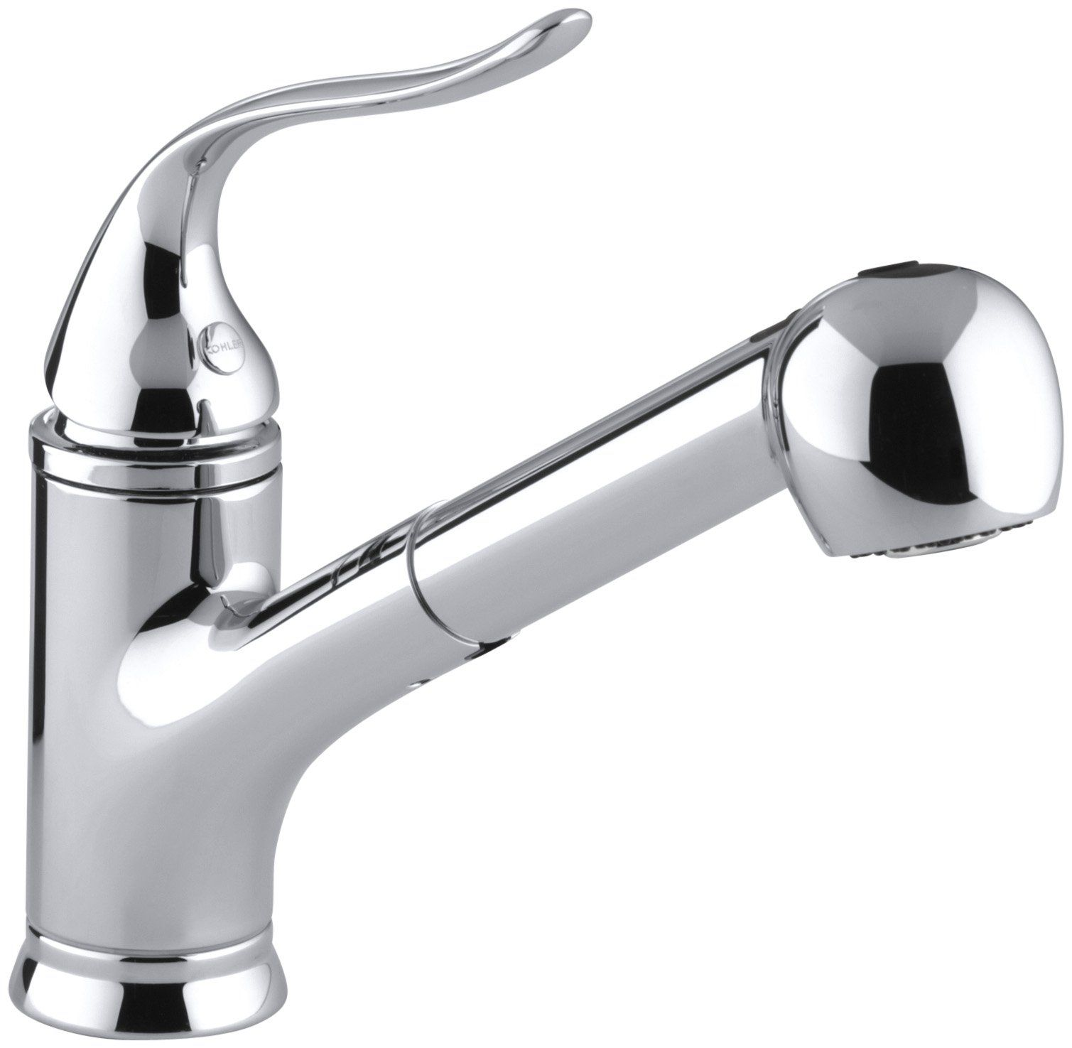 Kohler K 15160 96 Coralais Single Control Pullout Spray Kitchen Sink Faucet Biscuit Touch O Kitchen Faucet Single Handle Kitchen Faucet Kitchen Sink Faucets