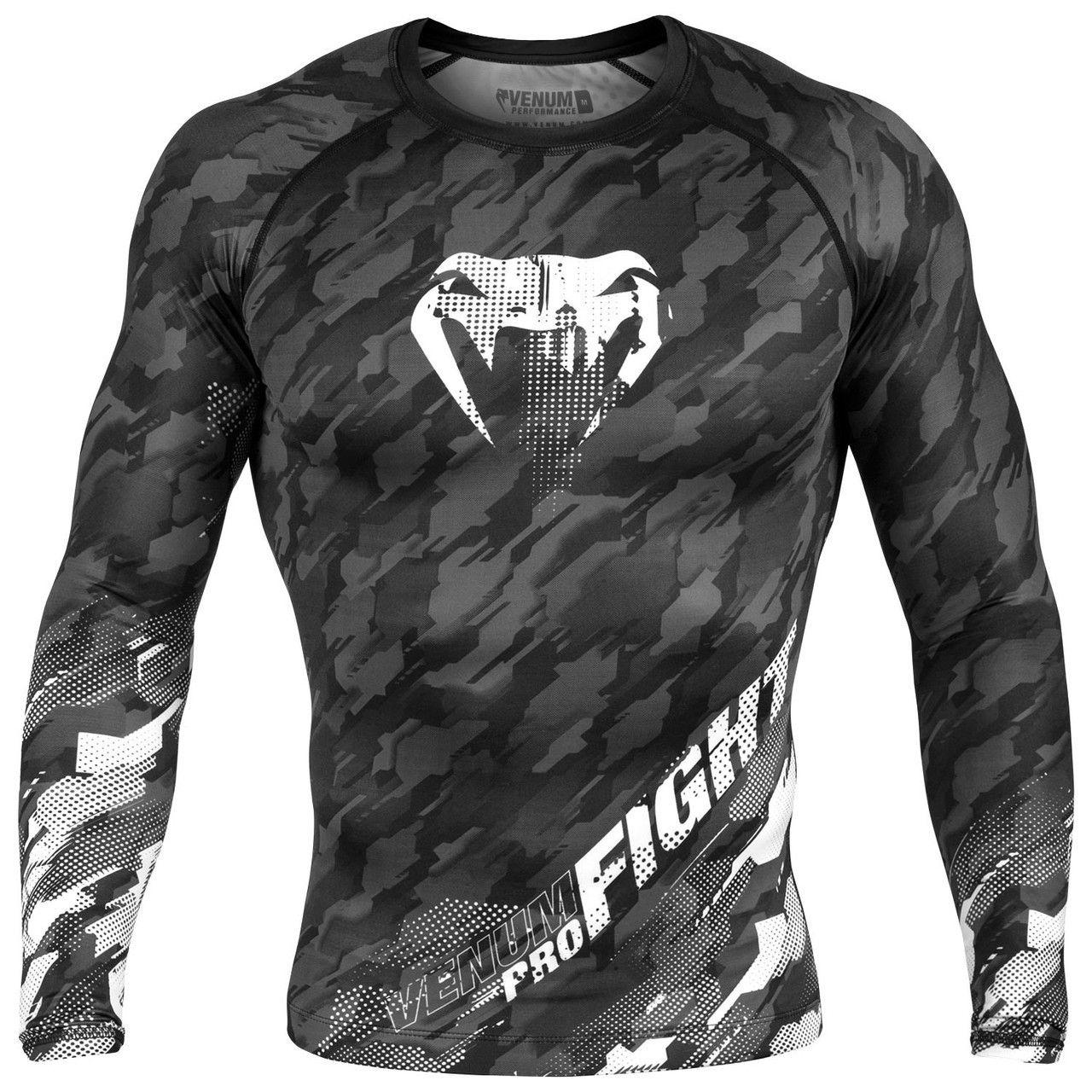 News Venom Boxing Rash Guard Long Sleeve Fight with Training Gym MMA T Shirt