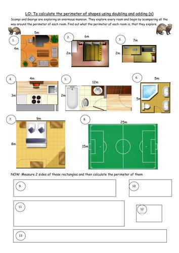 Perimeter Worksheet 2 - Finding Perimeter