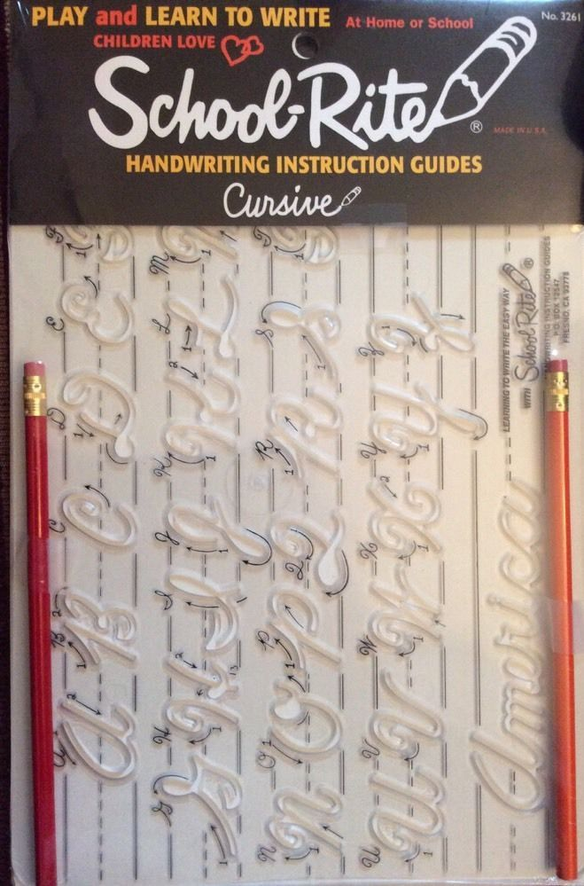 Cursive Handwriting Instruction Template Guide Uppercase Letters