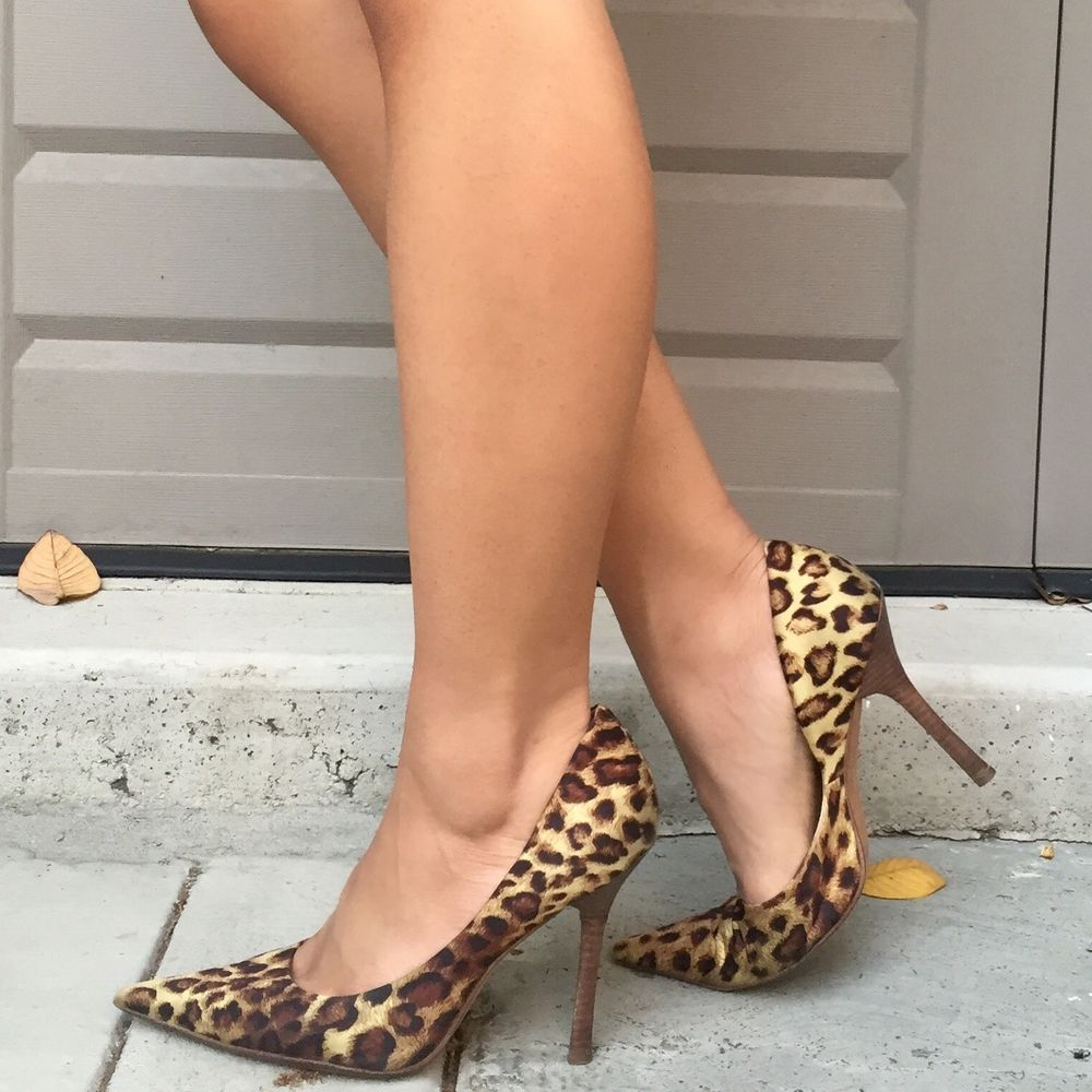 1f58b9577fc GUESS Carrie Cheetah Leopard Print Pointy Toe Stiletto Heels #GUESS ...