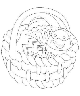 ausmalbild Osterkorb | Adult\'s coloring pages | Pinterest ...