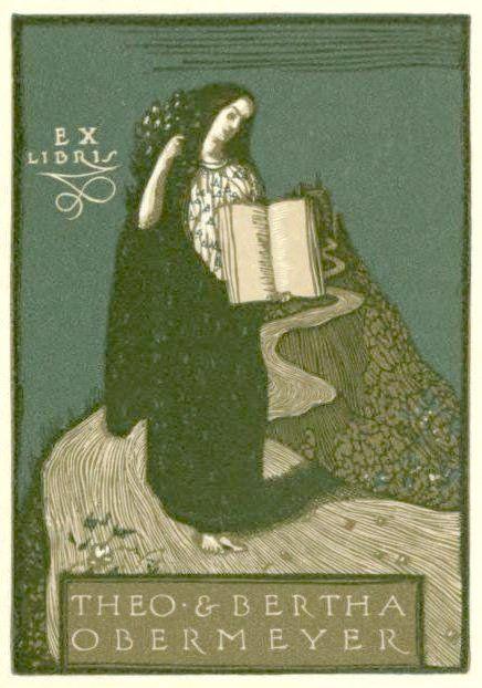 Bookplate of Theo & Bertha Obermeyer