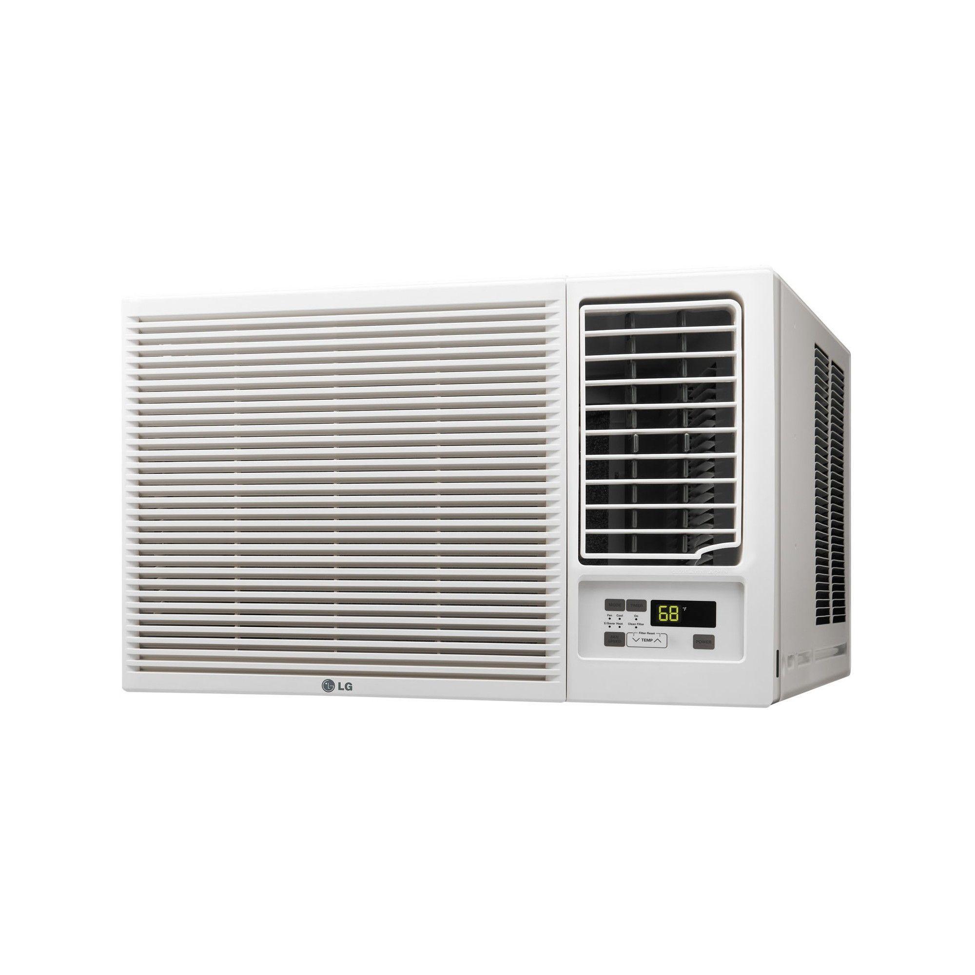 LG 24000 Btu Heat/Cool Window Air Conditioner, White