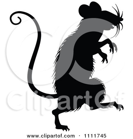 856ff99e1caa8 Clipart Silhouetted Mouse In Black And White - Royalty Free Vector  Illustration by Prawny Vintage