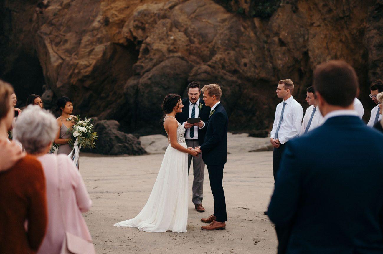 small beach wedding ceremony ideas%0A Intimate Big Sur Beach Wedding  u     Planned in    Days