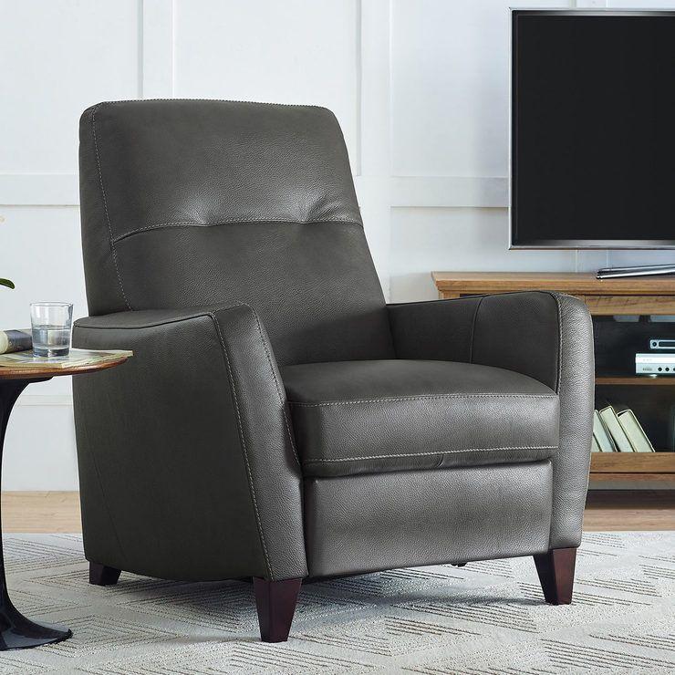 Natuzzi Grey Leather Pushback Recliner Armchair Costco Uk Reclining Armchair Grey Leather Sofa Quality Sofas