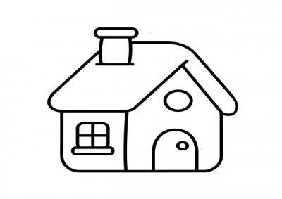 imagenes de casas para colorear blanc | Las viviendas | House