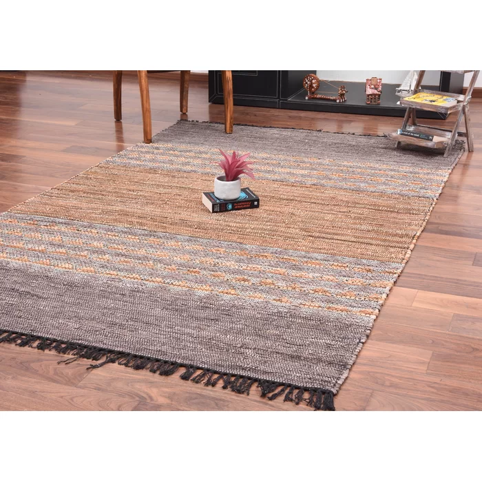 Encarnacion Geometric Handmade Flatweave Brown Area Rug Brown Area Rugs Area Rugs Flat Weave