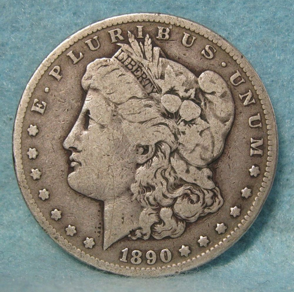 1890 Cc Carson City Mint Morgan Silver Dollar Dollar Near Fine Us Coin Valuable Coins Silver Dollar Value Coins