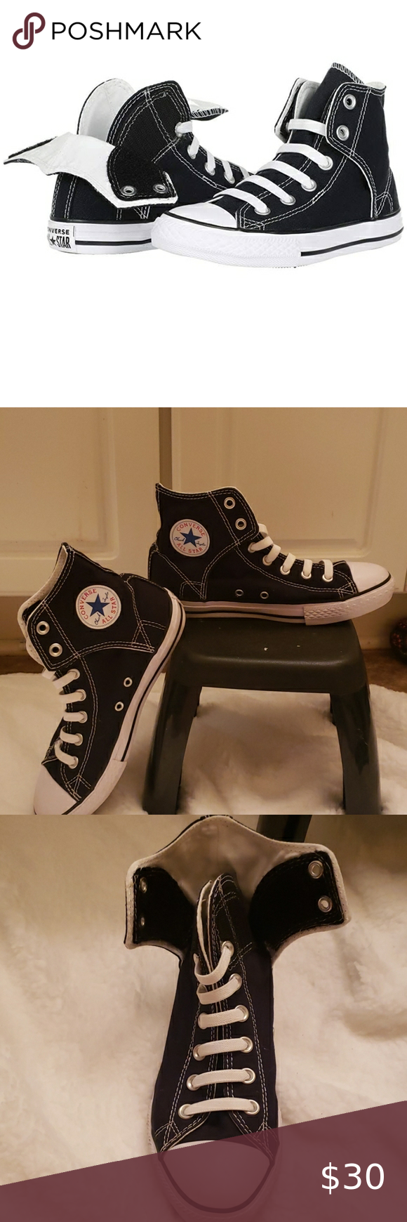 Converse Allstars High tops with velcro
