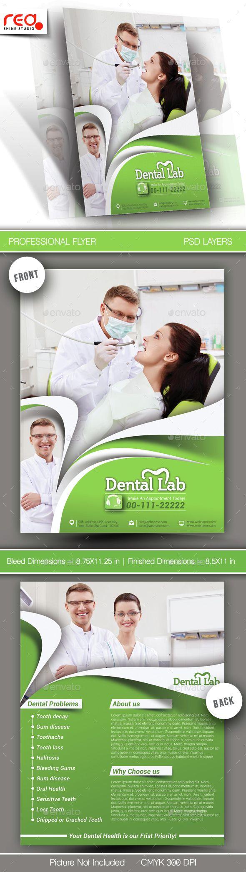 dental lab flyer poster template