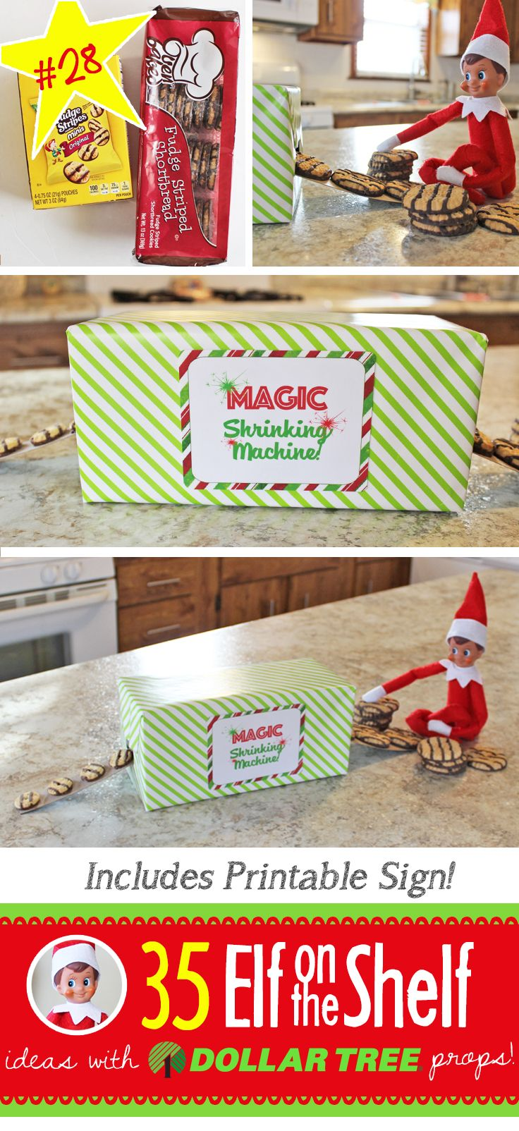 55+ New Elf on the Shelf Ideas: #28 Magic Shrinking Machine