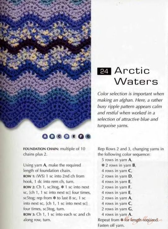 Arctic Waters | Ripple and Chevron Afghans | Pinterest | Cobija ...