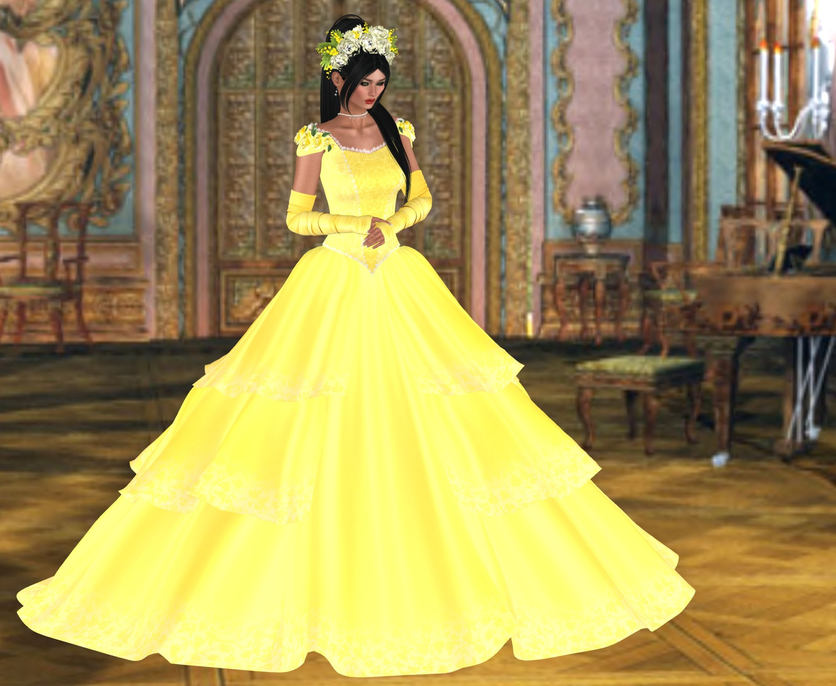 Belle Of The Ball With Images Toddler Hair Sims 4 Sims 4