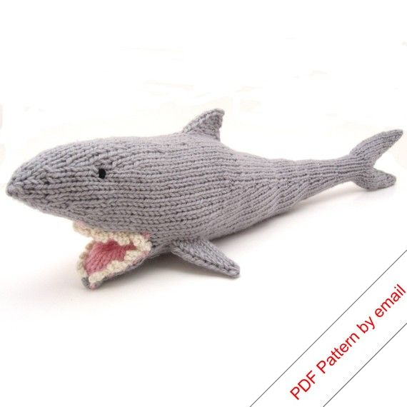 Shark Knitting Pattern | KNITT AND CROCHET | Pinterest | Muñecos de ...