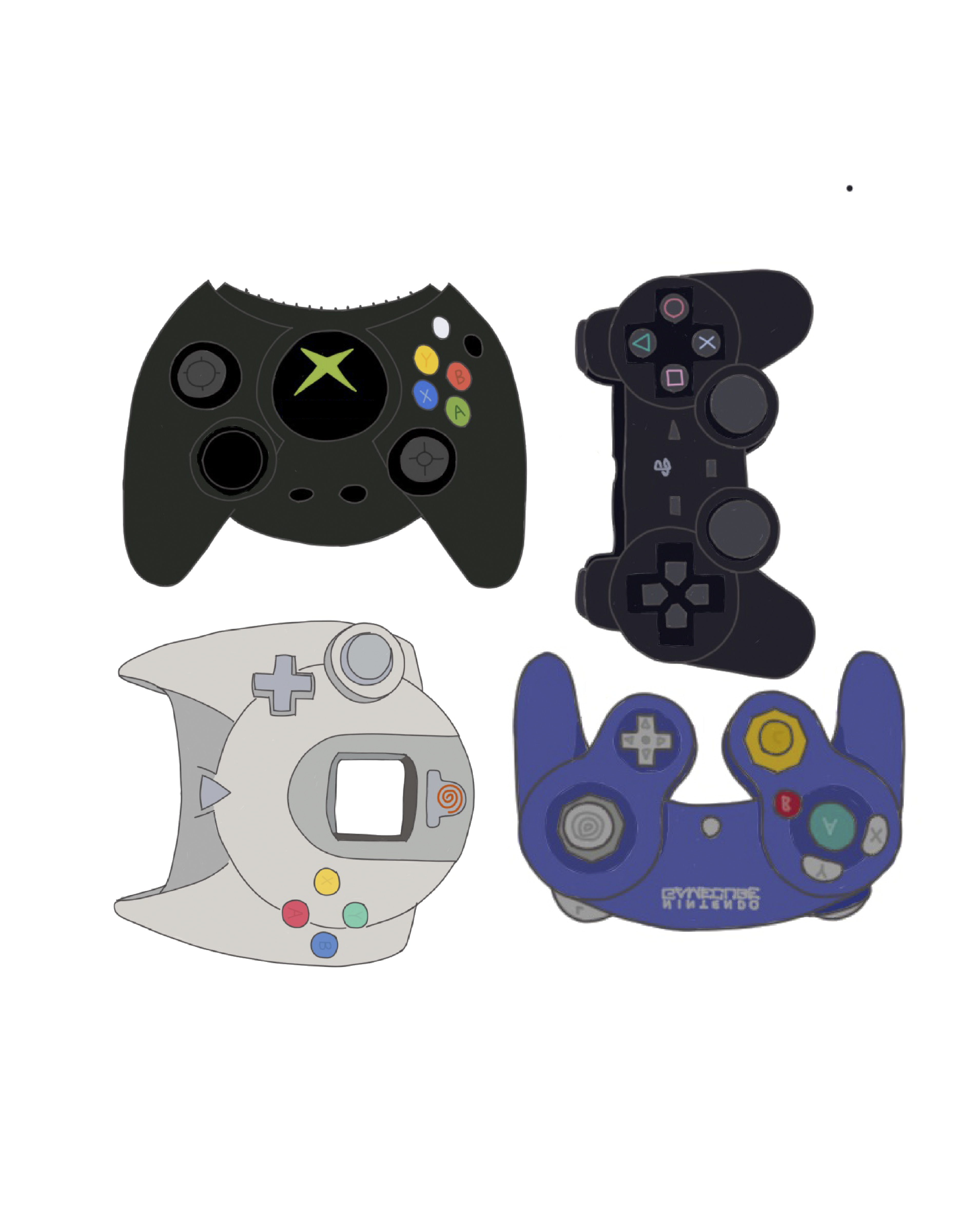 Generation 6 Xbox Playstation 2 Sega Dreamcast Nintendo Gamecube Video Game Controllers Iphone Mobile Wallpaper Video Game Controller Playstation Games