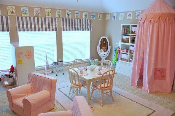 elegant pleasant and fantastic kids playroom decoration idea with