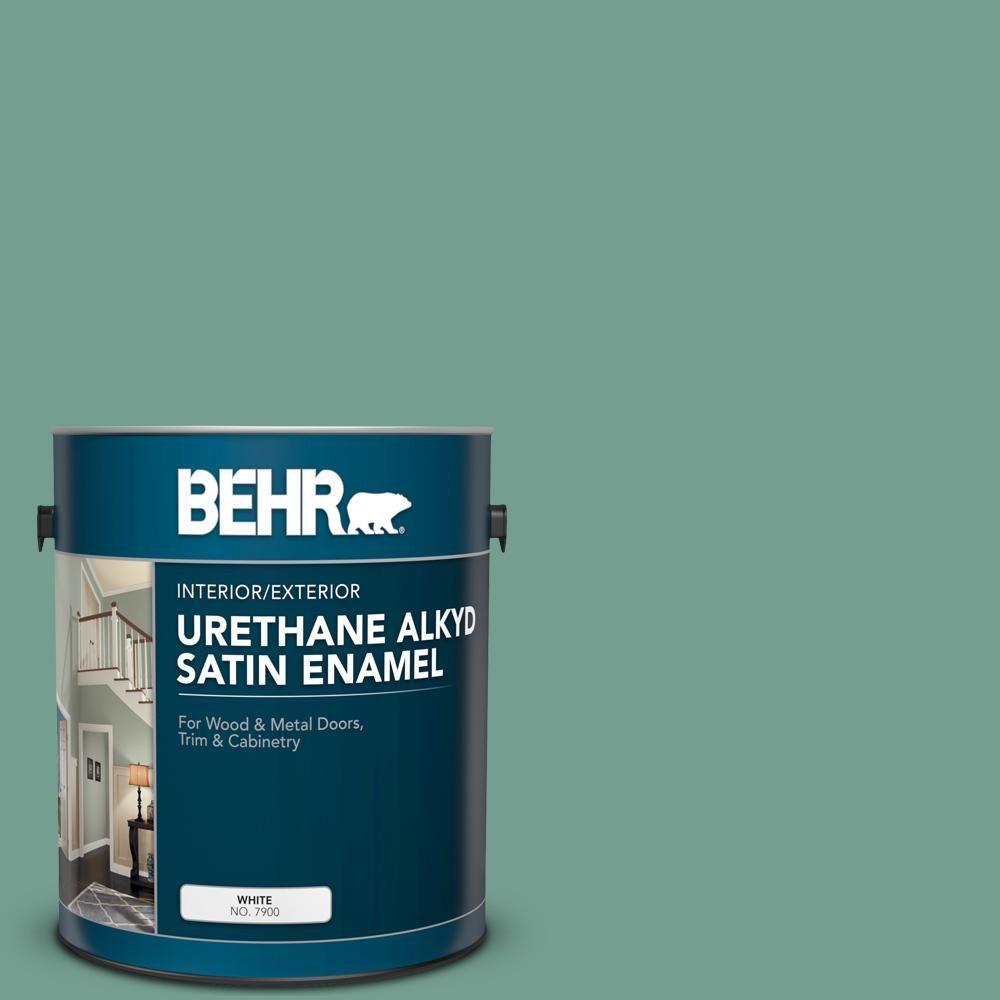 Behr 1 Gal M430 5 Regal View Urethane Alkyd Satin Enamel Interior Exterior Paint Exterior Paint Interior Paint Painting Trim