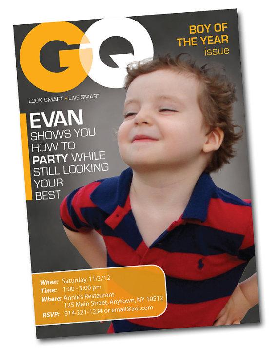 Personalized Fashion Magazine Cover Birthday Invitation Gq Etsy Personalized Birthday Magazine Cover Fashion Magazine Cover