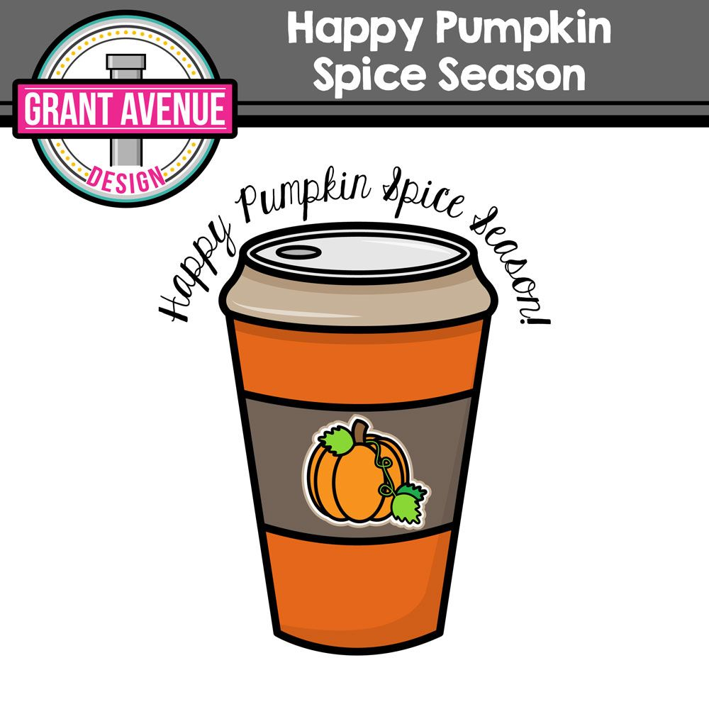 this free pumpkin spice clipart is perfect for all your cute fall crafts and gifts  [ 1000 x 1000 Pixel ]