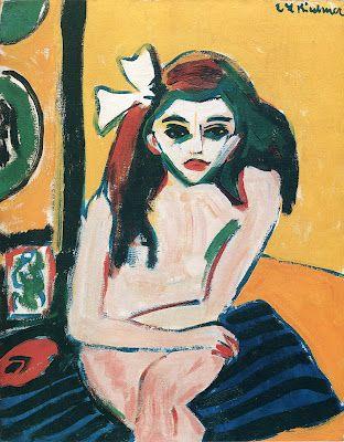 Marzella by Ernst Kirchner (German); 1909-1910; oil.    Location: Stockholm, Sweden; Moderna Museet.