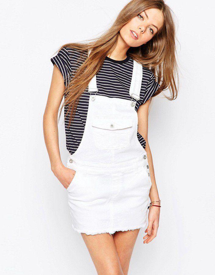 1d1d458ac0a Pin for Later: 41 Ways to Wear Summer Denim Tommy Hilfiger Short Denim  Dungaree Dress