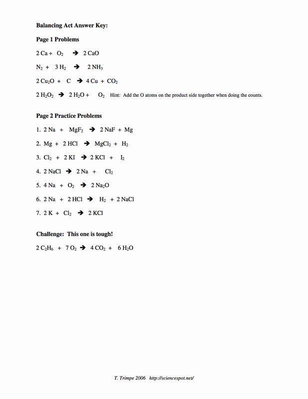 Balancing Act Worksheet Answer Key Awesome Fri Sept 22 Ms ...