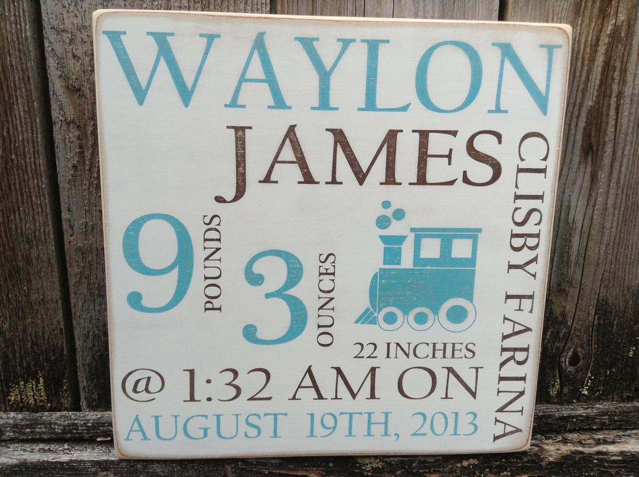 Rustic Wood Sign Baby Boy Birth Announcement Sign Personalized – Birth Announcement Signs