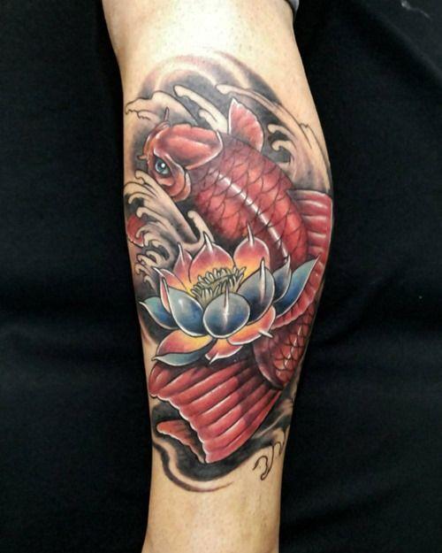 Koi And Lotus Flower Tattoo Designs Valoblogicom