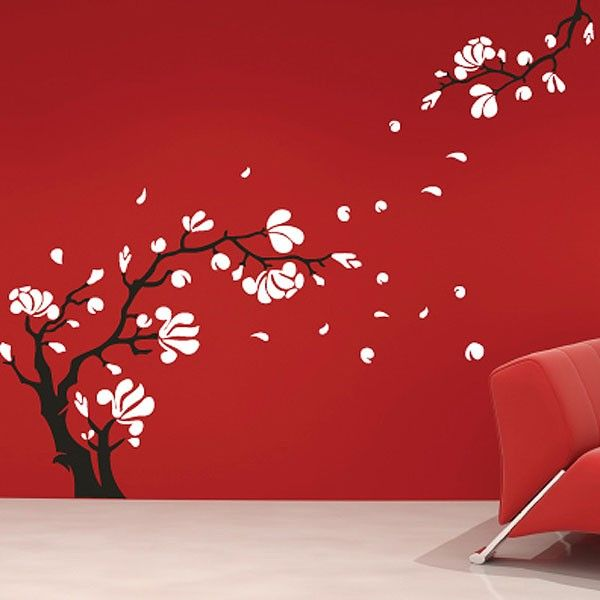 Magnolia Flower Wall Sticker Funky Flower Wall Decor Our Home