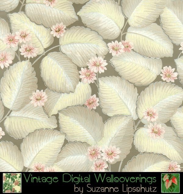 Suzanne Lipschutz Vintage Digital Reproduction Wallpaper [DIG-62107] : Designer Wallcoverings™